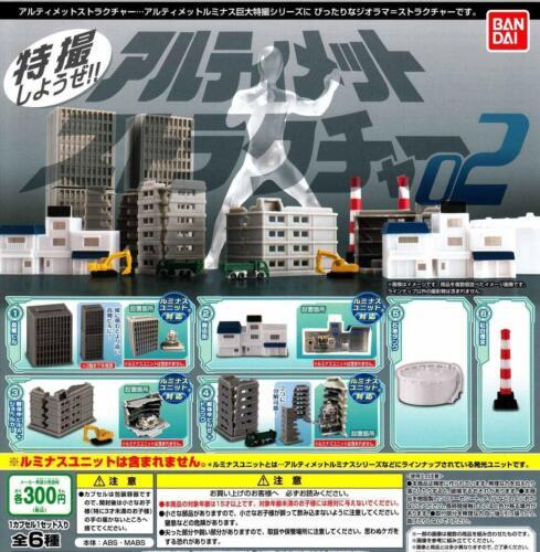 BANDAI Ultimate structure Vol.2 Gashapon 6 set Mini Figure JAPAN OFFICIAL IMPORT
