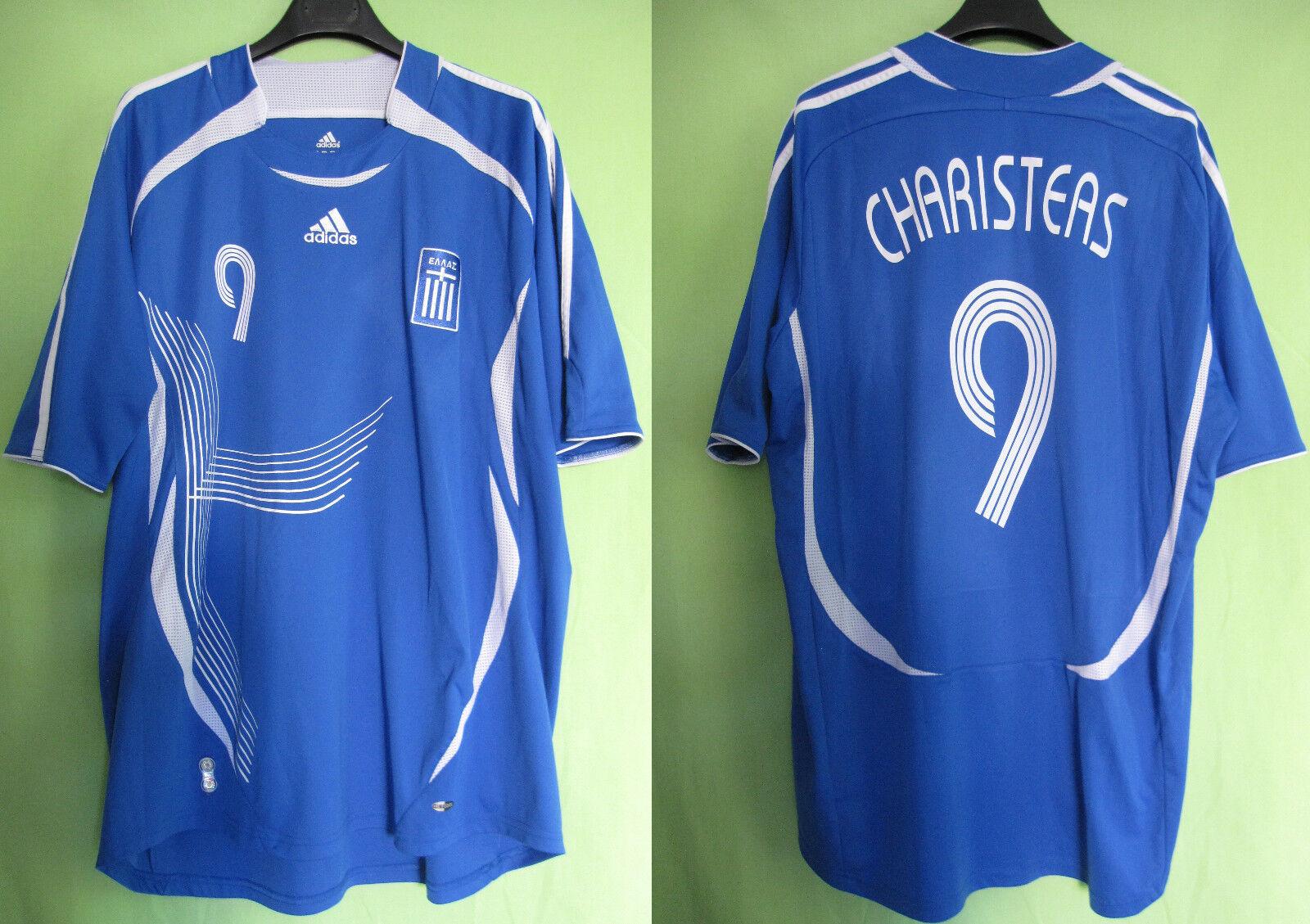 Maillot Grece 2006 Vintage Football Jersey Charisteas Adidas Greece - XXL