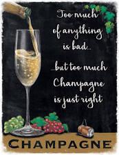 Champagner Glas Wein Drink Pub Bar Küche Alt Werbe Neuheit Kühlschrank-magnet