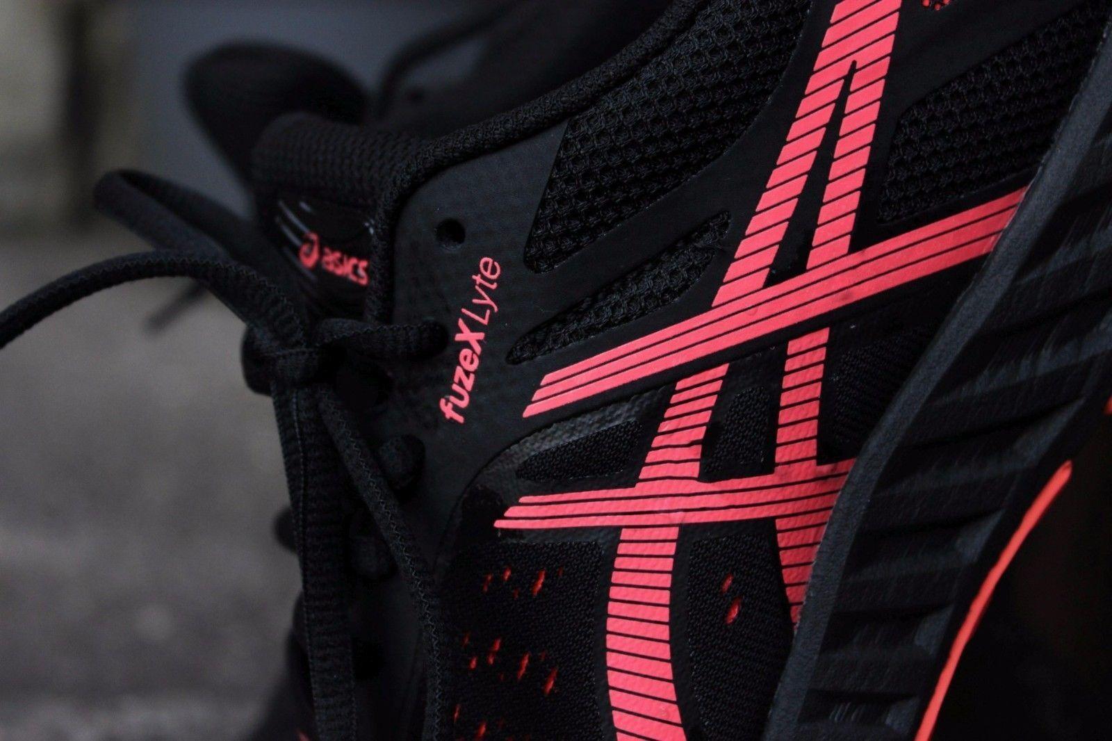 Asics fuzeXLyte Fuse Lite Zapatos Fuze X Lyte Negro Flash Coral-X