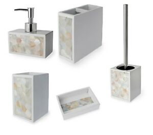 Pearl White Bathroom Accessories