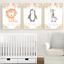 Safari-jungle-animaux-Nursery-Imprime-Set-de-3-Baby-Girl-Room-photos-Wall-Art miniature 5
