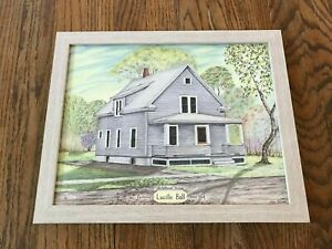 Lucille-Ball-I-Love-Lucy-Childhood-Home-Celeron-Jamestown-NY-Framed-Art-Print