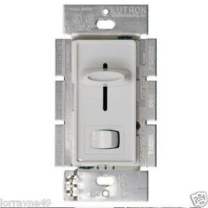 Lutron Sfsq Lf Wh Quiet 1 5amp Ceiling Fan And Light