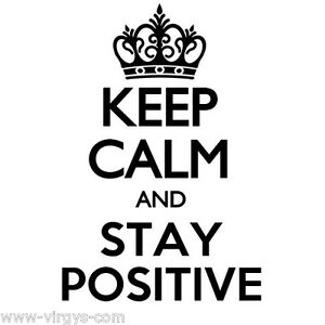 Sticker mural texte keep calm and stay positive 20x14cm for Keep calm immagini
