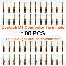 100 Deutsch DT Gold Male Solid Contacts 16-20 Ga 0460-202-1631 MoTeC AEM Tuner
