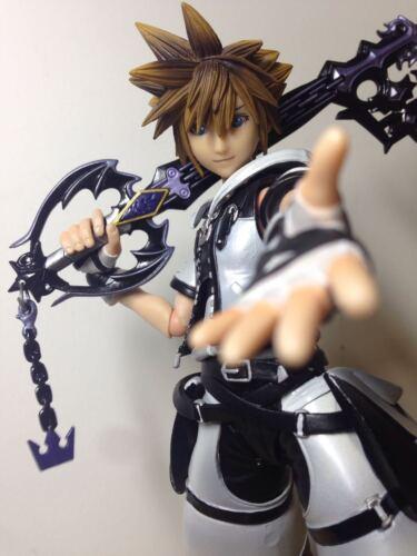 Square Enix Kingdom Hearts 2 SORA white ver Play Arts Kai Action Figure No Box