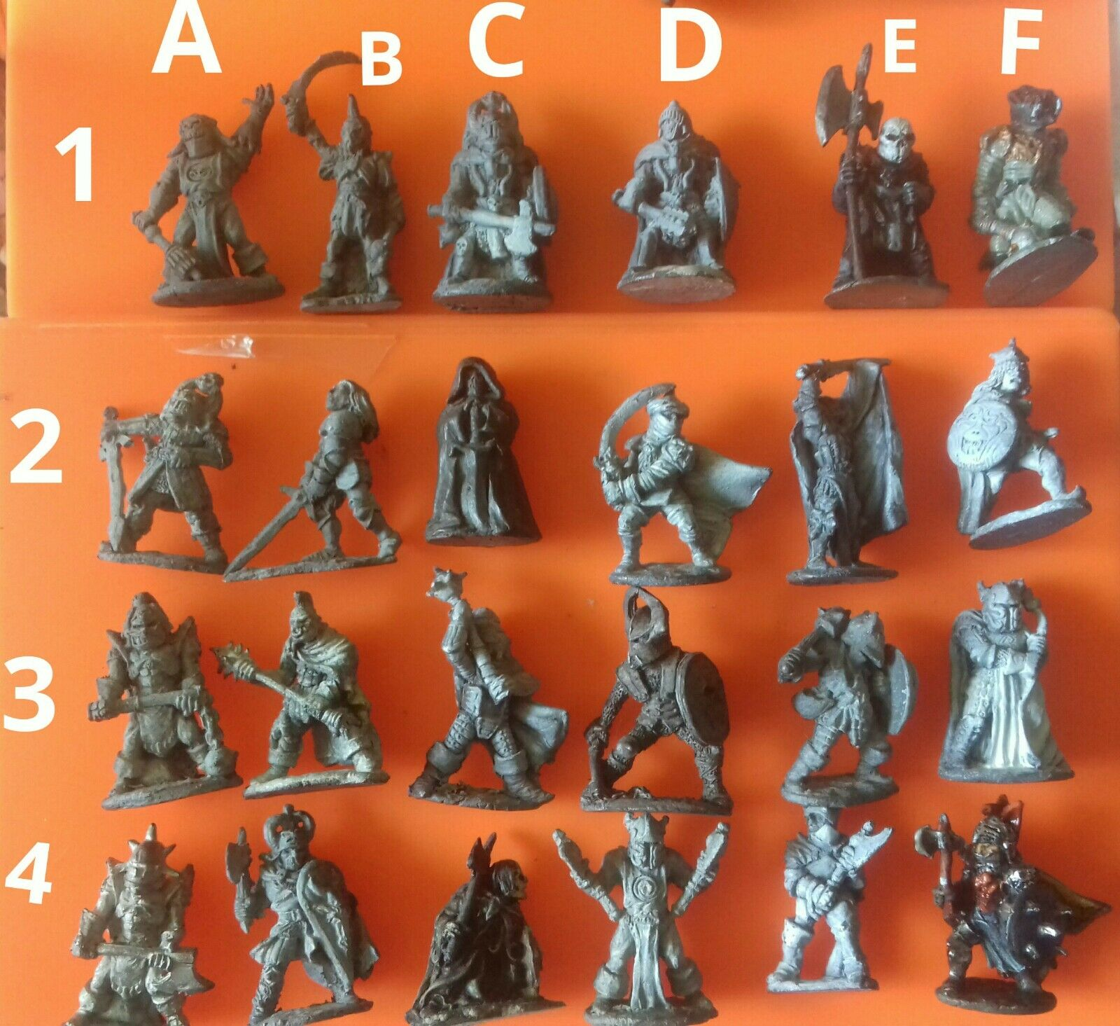 24x C35 C01 Chaos Warrior knights Champions Citadel GW Games Workshop pré-socle