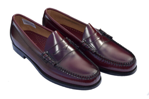 BASS WEEJUNS WINE LARSON PENNY LOAFERS MODS SKINHEAD NORTHERN SOUL