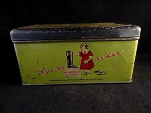 Belle Ancienne Boite Tôle Cirage Publicitaire William Wren & Co Polish Northampton 10 Forfaits à La Mode Et Attrayants