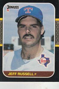FREE-SHIPPING-MINT-1987-Donruss-Texas-Rangers-Baseball-Card-550-Jeff-Russell