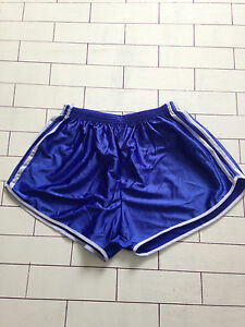 Blau-Vintage-Retro-Sprinter-oldschool-Athletic-Running-Shorts-Gr-L-XL-112