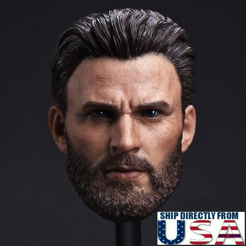 1 6 Chris Evans Evans Evans Captain America Head Sculpt For TBLeague Hot Toys Figure U.S.A. b3beab