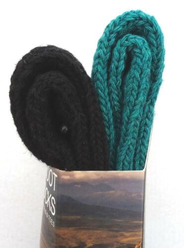 Two Pair Pack 37-42 EUR Boot Socks GlenMuir Size 4-8 UK