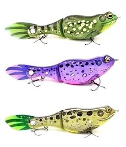 NEW-DYNA-GLYDE-7-BASS-DYNASTY-CUSTOM-SLOW-SINK-GLIDE-SWIMBAIT-FROG-SELECT-COLOR