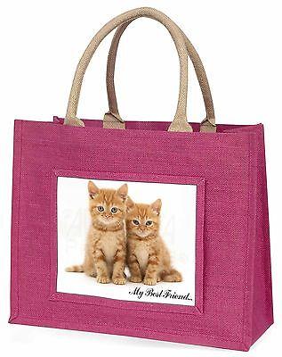 Kätzchen 'My Bester Freund' Große Rosa Einkaufstasche Weihnachtsgeschenk