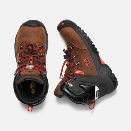 KEEN Boys Torino II Mid Waterproof Boots Tortoise Shell//Fiery Red