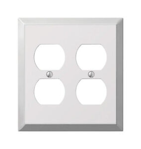 Amerelle  Century  Polished Chrome  2 gang Stamped Steel  Toggle  Wall Plate  1