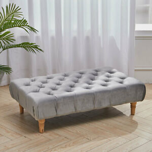 Large Chesterfield Buttoned Footstool Ottoman Bench Coffee Table Bench Stools Uk Ebay