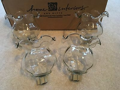 Home Interiors HOMCO NEW 4 Flutted Votive Cups Candle Holders Beautiful!
