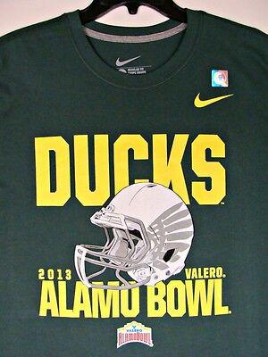 Oregon Ducks 2013 Alamo  Bowl Champions Mens T-Shirt L  Football NCAA Nike Winer