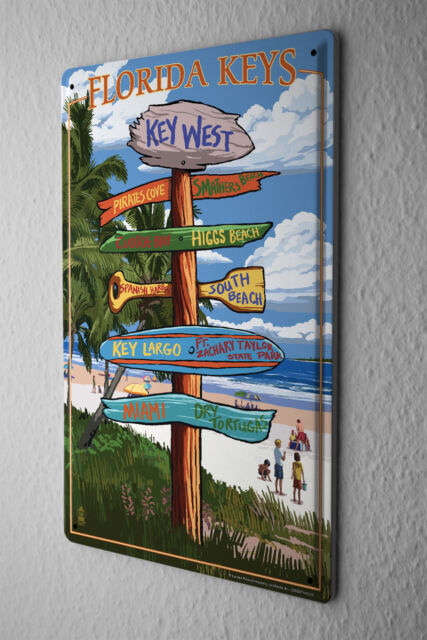 Tin Sign Holiday Travel Agency Florida Keys
