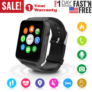 Smart-Watch-Wristwatch-Phone-Mate-For-iPhone-iOS-Android-BLACK