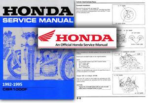 Honda cbr1000f workshop service manual cbr 1000 f 1992 to.