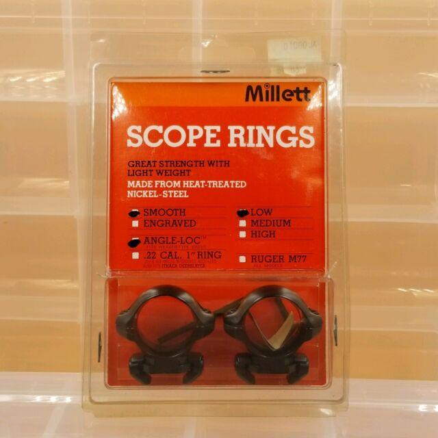 Millett 1 Angle-loc Low Scope Rings Weaver Base Matte