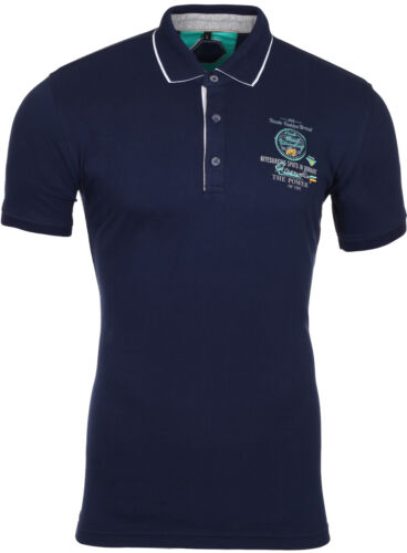 Reslad Polo-Shirt Homme Polo Contraste Col Polo Manches Courtes-shirt rs5204 NEUF