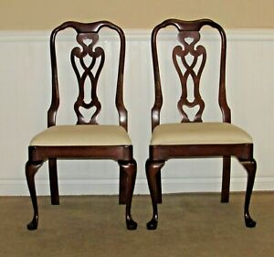PENNSYLVANIA HOUSE CHERRY QUEEN ANNE CHAIRS, PAIR DINING ...