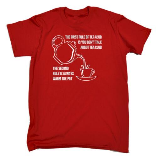 La prima regola del tè Club sempre caldo la teiera T-shirt Café Regalo Di Compleanno Divertente