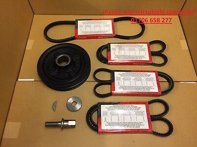 FOR Mitsubishi L200 2.5 Engine crank shaft pulley alternator power ac belt belts