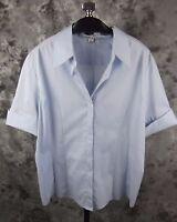 Jennifer And Grace Shirt Top Xl Light Blue Short Sleeve
