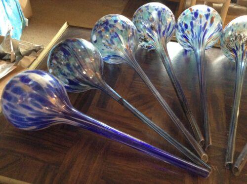 """11 1//2/"""" inch tall glass flower pot watering balls"""