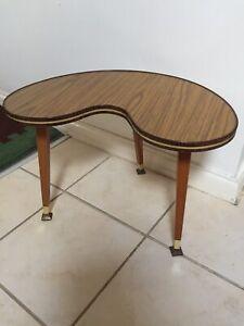 Vintage Retro Kidney Shaped Coffee Side Table Dansette Legs Mid Century Ebay