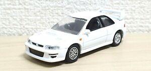 1-72-Yujin-EPOCH-MTECH-SUBARU-IMPREZA-WRX-STI-22B-GC8-White-Diecast-Car-Model