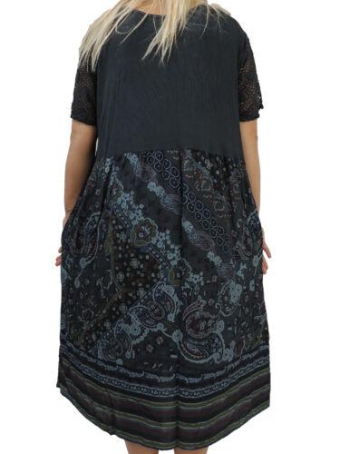 Fantastico abito da donna misura 46 48 50 52 54 vestiti misure grandi bumenmuster punta