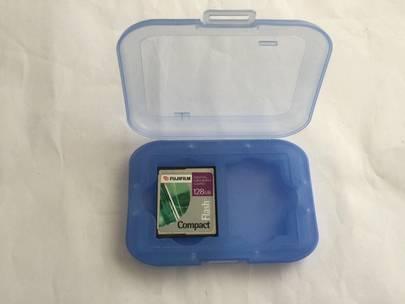 Blue Compact Flash Transparent Holder Case Memory Card CF Box Storage
