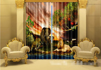3d Various Animals Blockout Photo Curtain Printing Curtains Drapes Fabric Window