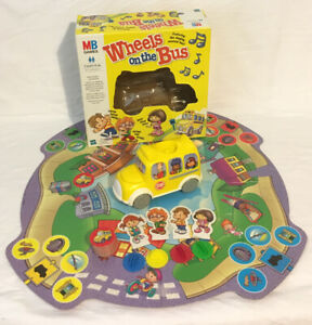 Wheels-On-The-Bus-Board-Game-2002-MB-Milton-Bradley-Working