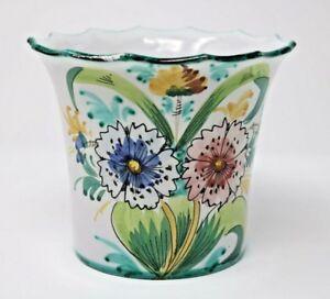 eBay & Details about Handmade Flower Pot Vase Flower Art Design Made in Italy