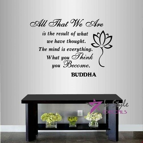 Vinyl Decal The Mind Is Everything Buddha Quote Wisdom Yoga Room ...