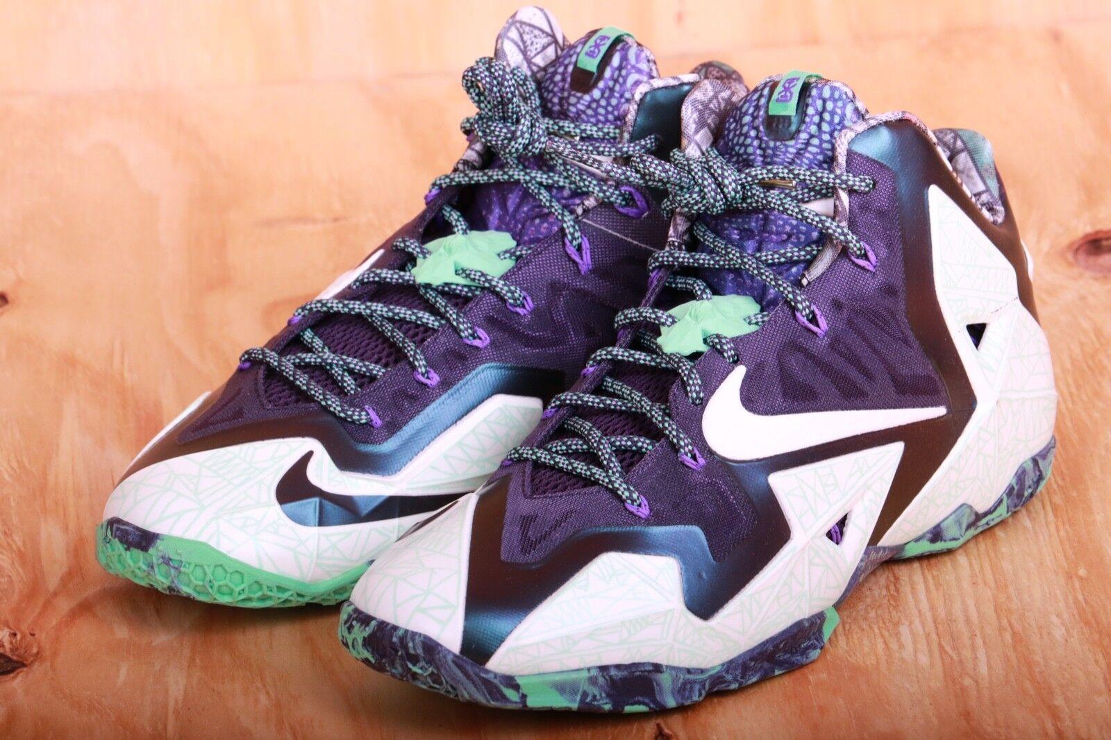 6b083dfc8617 Nike Lebron Xi-as Gator King ASG 2014 Nola Cashmere Green Glow ...