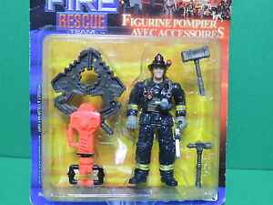 Chap Mei Figurine Articulée Pompier Fire Rescue Team Figure Playset Neuf / New