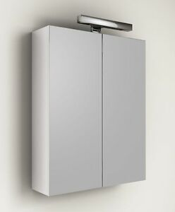 specchio contenitore per mobile da bagno + applique 60 specchiera ... - Specchio Bagno Ebay