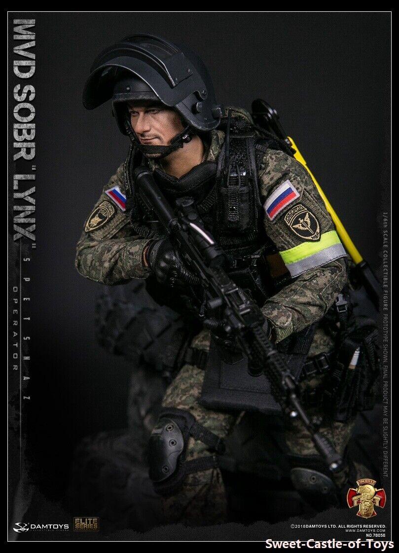 1 6 figura militar Dam Juguetes DamJuguetes ruso Alforjas MVD SOBR LYNX 78058
