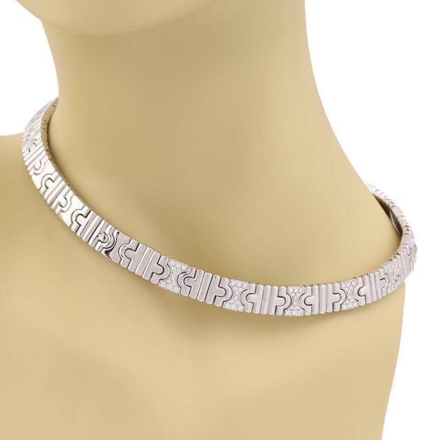 Bvlgari Parentesi Diamond 18k White Gold Wide Collar Necklace