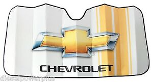chevy chevrolet duramax car sun shade protector truck logo windshield window new