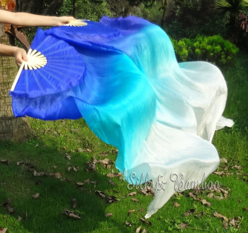 1PIECE right hand 1.5m*0.9m belly dance silk fan veil+bag! Various designs